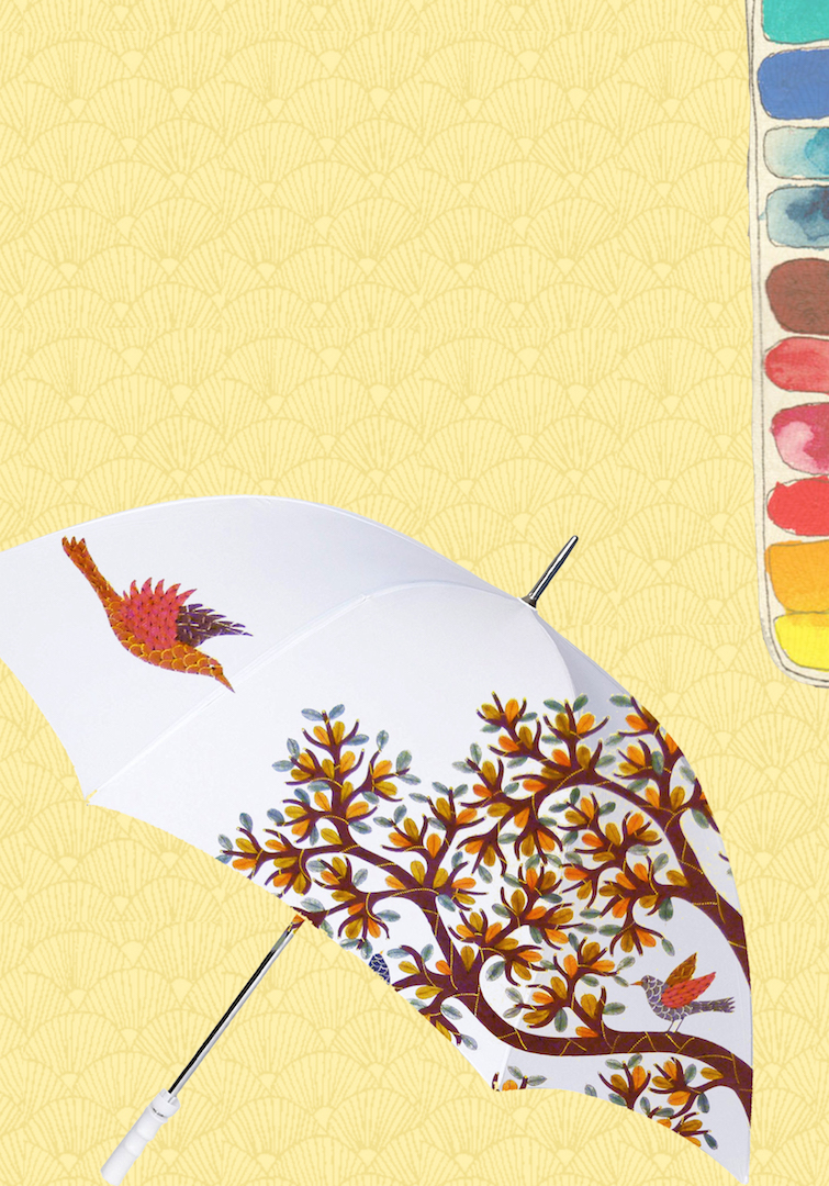 Celebrate Monsoon with Gond Painting on Umbrella Workshop by 'Baaya Design'