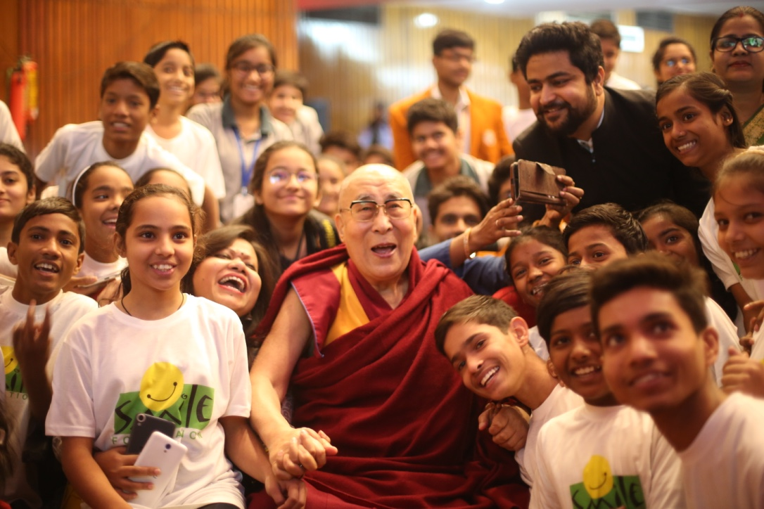 His Holiness the Dalai Lama inaugurates  Smile Foundation's initiative, 'The World of Children'