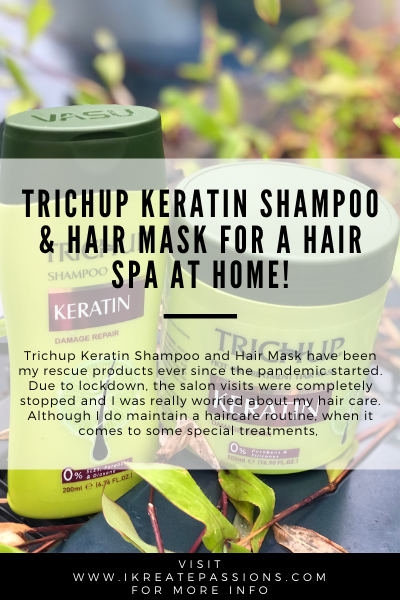 Trichup Keratin Shampoo & Hair Mask For A Hair Spa At Home!