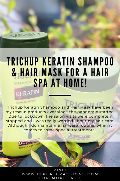 Trichup Keratin Shampoo & Hair Mask For A Hair Spa At Home!
